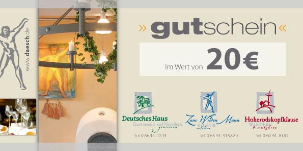 2390a61f1f 20 € Gutschein [Voucher-20] - €20.00 - Daesch Gastronomie - Online Shop